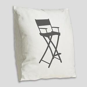 movies film 110-Sev gray Burlap Throw Pillow