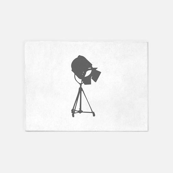 movies film 114-Sev gray 5'x7'Area Rug