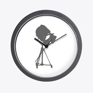 movies film 114-Sev gray Wall Clock