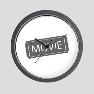 movies film 119-Sev gray Wall Clock