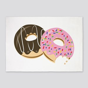 Donut Food 5'x7'Area Rug