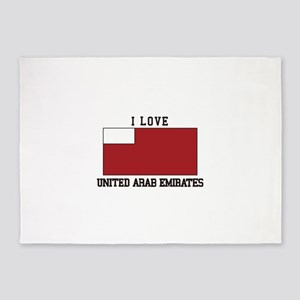 I love v united arab emirates 5'x7'Area Rug