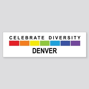 DENVER - Celebrate Diversity Bumper Sticker