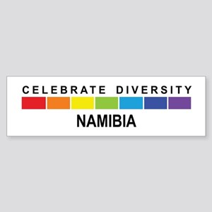 NAMIBIA - Celebrate Diversity Bumper Sticker