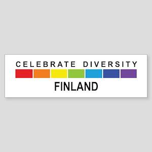 FINLAND - Celebrate Diversity Bumper Sticker