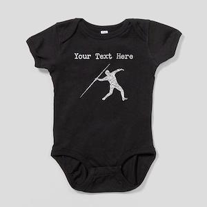 Distressed Javelin Throw Silhouette (Custom) Baby