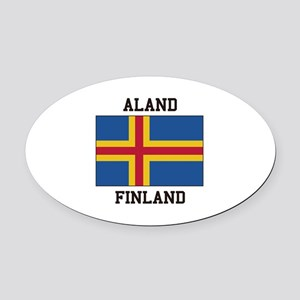 Aland Finland Oval Car Magnet