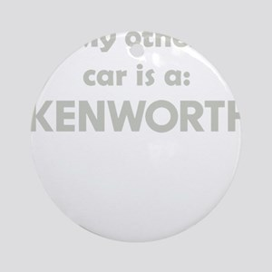 My other car is a Kenwoth Round Ornament
