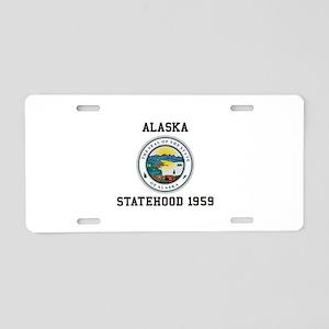 Alaska Statehood 1959 Aluminum License Plate