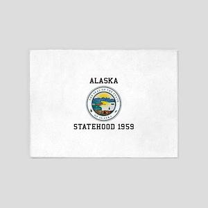 Alaska Statehood 1959 5'x7'Area Rug