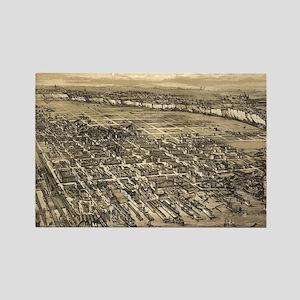 Vintage Pictorial Map of Hoboken  Rectangle Magnet