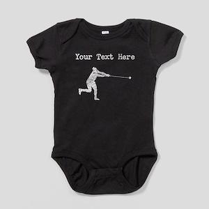 Distressed Hammer Throw Silhouette (Custom) Baby B
