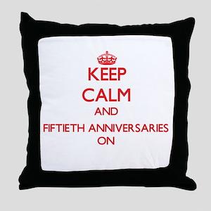 Fiftieth Anniversaries Throw Pillow