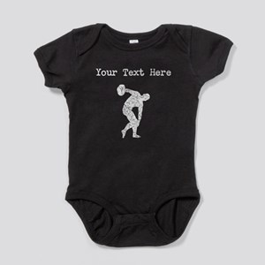 Distressed Discus Throw Silhouette (Custom) Baby B