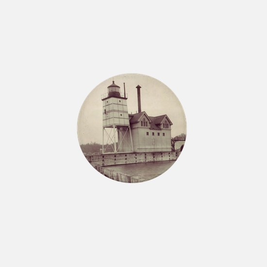Holland Harbor Lighthouse 2 Mini Button