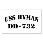 USS HYMAN Sticker (Rectangle)
