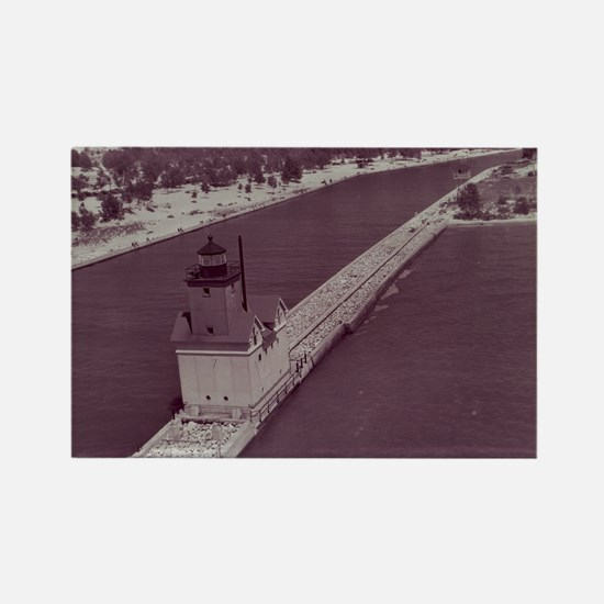 Holland Harbor Lighthouse Rectangle Magnet