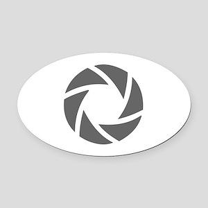 movies film 72-Sev gray Oval Car Magnet
