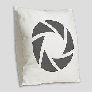 movies film 72-Sev gray Burlap Throw Pillow
