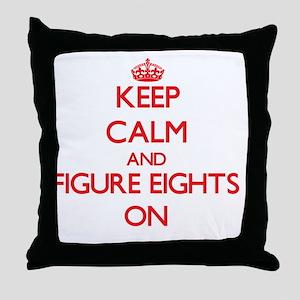 Figure Eights Throw Pillow