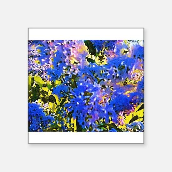 Azaleas Fauvist Oil Painting Sticker