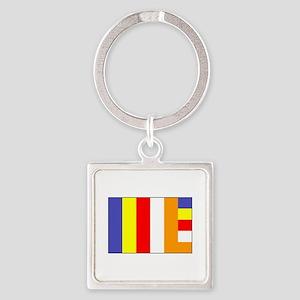 Flag of Buddhism Keychains