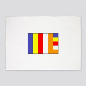 Flag of Buddhism 5'x7'Area Rug