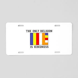 Kindness Aluminum License Plate