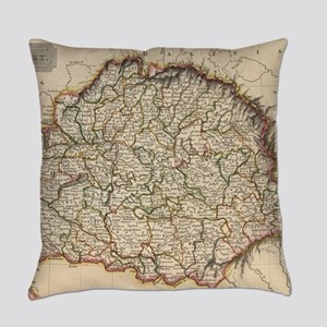 Vintage Map of Hungary (1817) Everyday Pillow