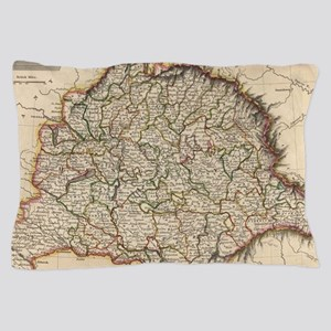 Vintage Map of Hungary (1817) Pillow Case