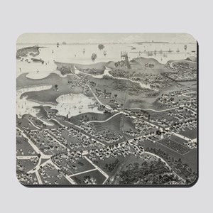 Vintage Pictorial Map of Hyannis MA (188 Mousepad