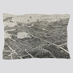 Vintage Pictorial Map of Hyannis MA (1 Pillow Case