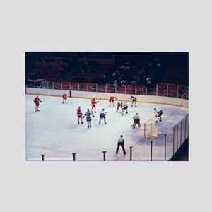 Vintage Ice Hockey Match Rectangle Magnet