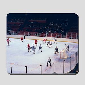 Vintage Ice Hockey Match Mousepad