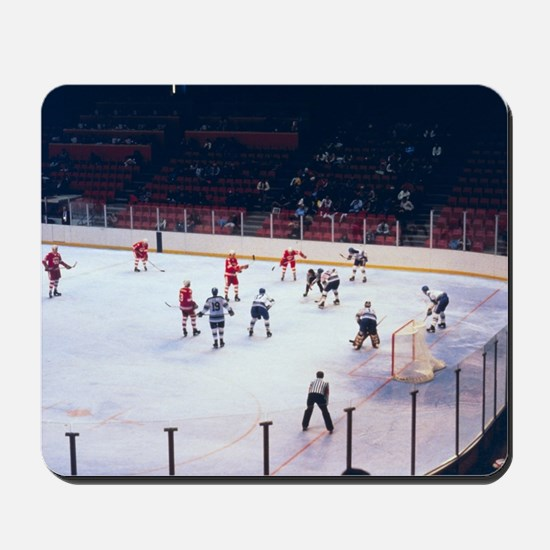Vintage Ice Hockey Match Mousepad