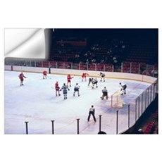 Vintage Ice Hockey Match Wall Decal