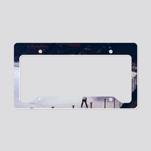 Vintage Ice Hockey Match License Plate Holder
