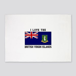 I love the British Virgin Islands 5'x7'Area Rug