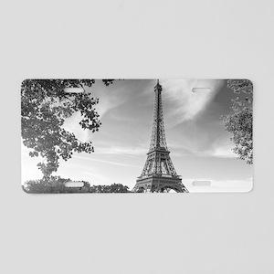 Eiffel Tower Aluminum License Plate