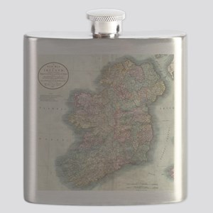 Vintage Map of Ireland (1799) Flask