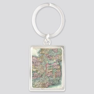 Vintage Map of Ireland (1799) Portrait Keychain