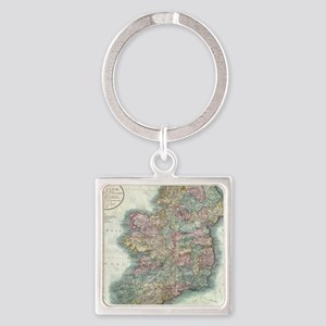 Vintage Map of Ireland (1799) Square Keychain