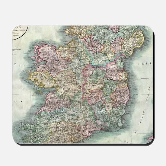 Vintage Map of Ireland (1799) Mousepad