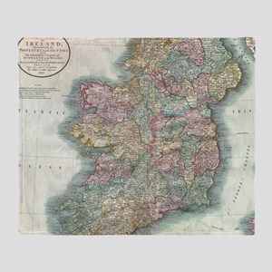Vintage Map of Ireland (1799) Throw Blanket