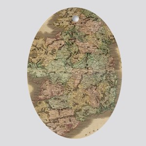 Vintage Map of Ireland (1831) Oval Ornament