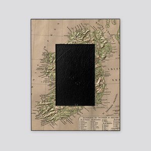 Vintage Physical Map of Ireland (188 Picture Frame