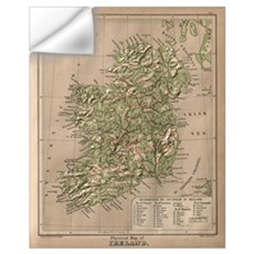 Vintage Physical Map of Ireland (1880) Wall Decal