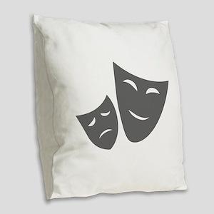 movies film 99-Sev gray Burlap Throw Pillow