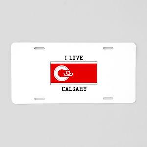 I love Calgary Aluminum License Plate