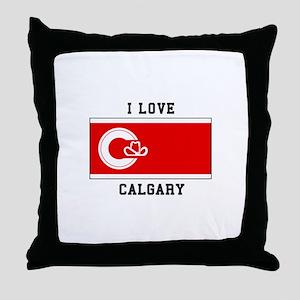 I love Calgary Throw Pillow